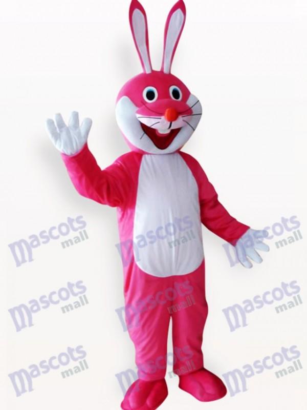 Costume de mascotte adulte de Pâques lapin rose animaux