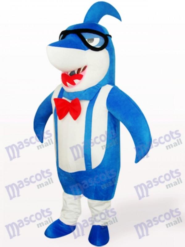 Costume de mascotte adulte bleu Big Head Shark Animal