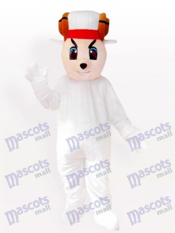 Costume de mascotte adulte mouton heureux