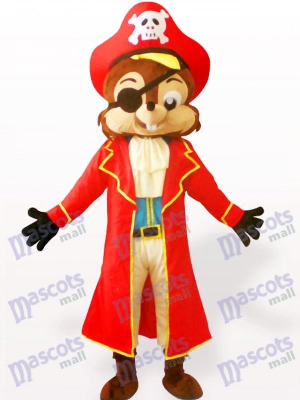 Costume de mascotte adulte animal écureuil pirate