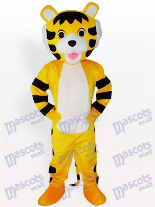 Costume de mascotte courte en peluche pour petit tigre