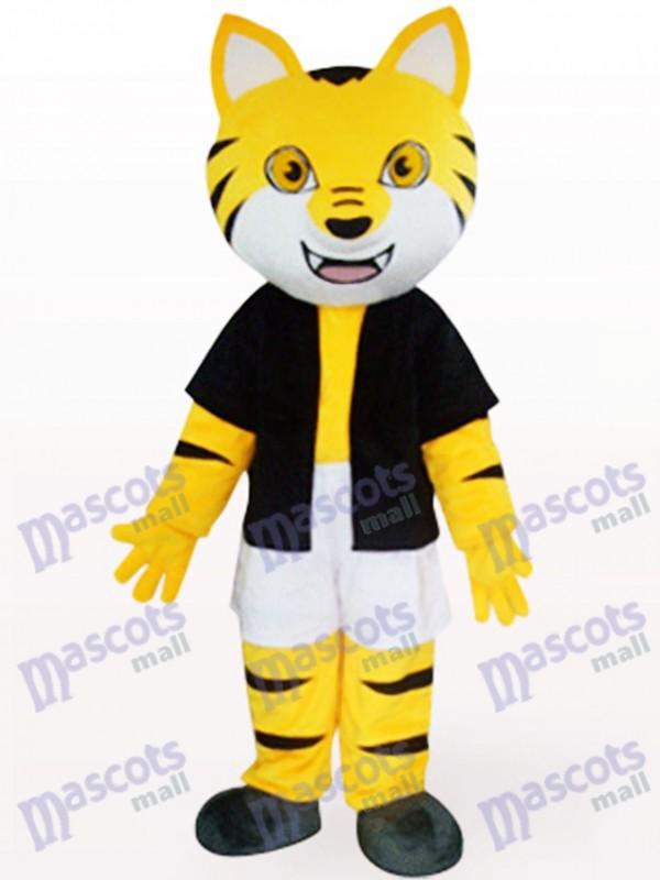 Tigre orange en costume de mascotte d'animal noir Underwaist