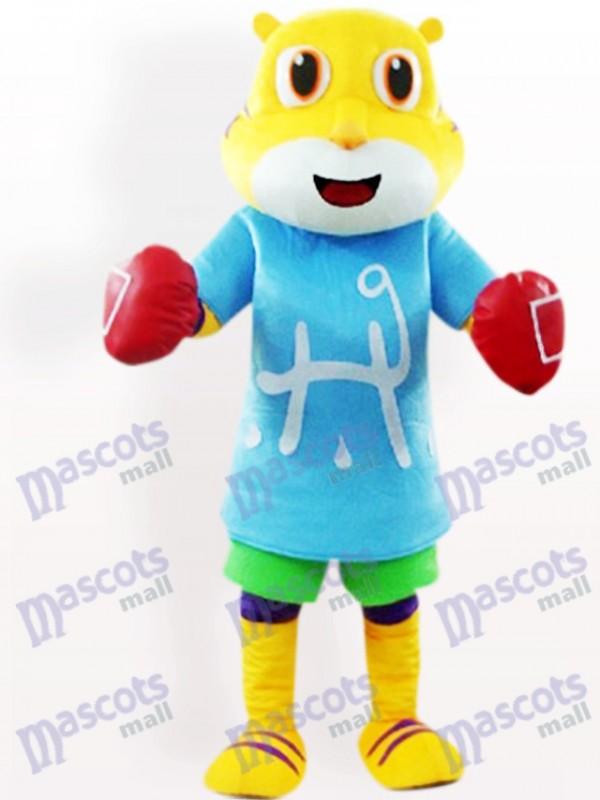Costume de mascotte adulte Tiger In Blue Clothes