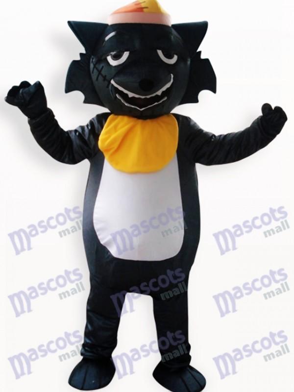 Costume de mascotte adulte Black Wolf Animal