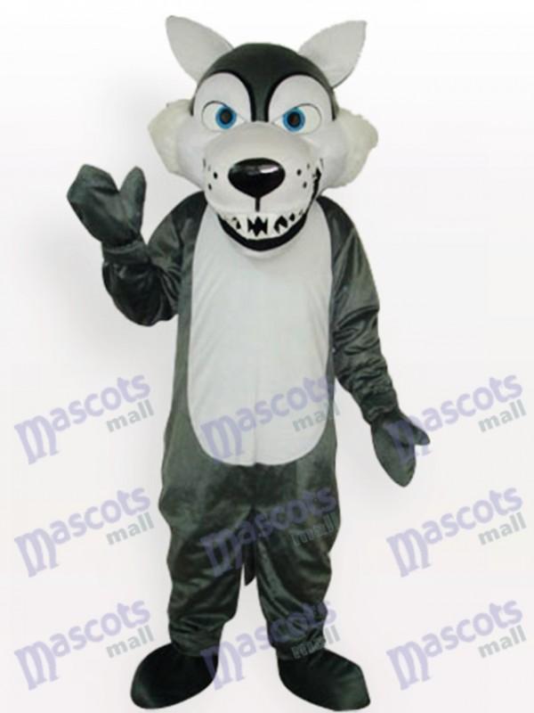 Déguisement de mascotte d'animal adulte de loup gris