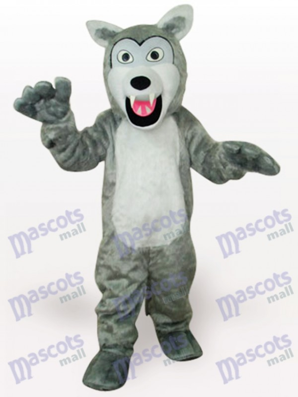 Costume de mascotte adulte gris loup animal