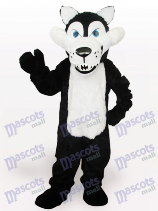 Costume de mascotte adulte de loup blanc
